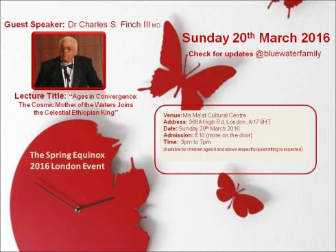 Dr Finch At The Spring Equinox 2016