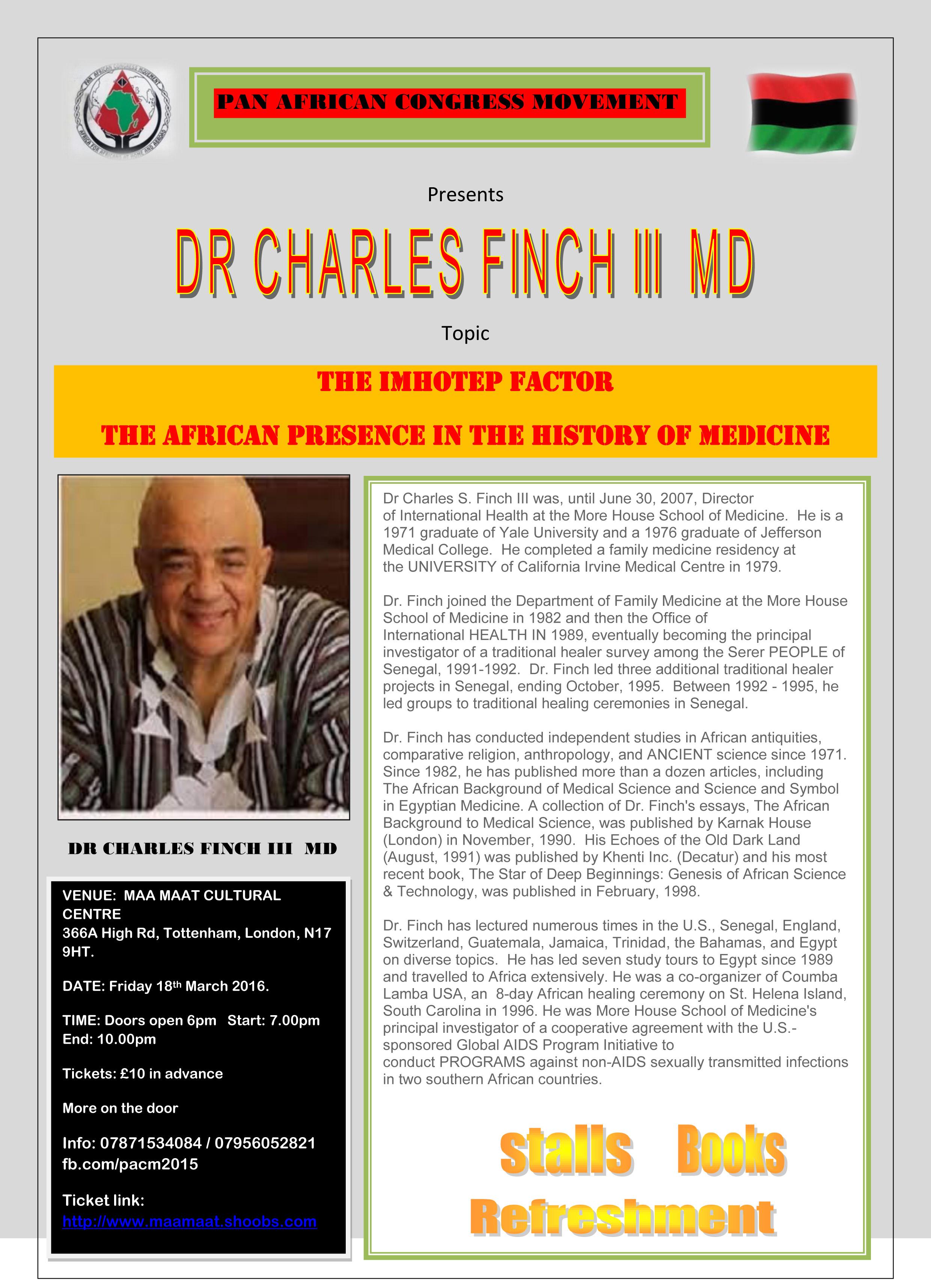 PACM Dr Finch E flyer